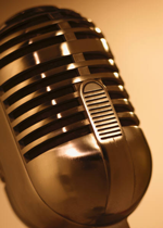 image of old microphone
